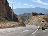 Las obras en la circunvalación de Abarán mejorarán su protección al impedir la caída de piedras a la calzada
