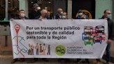 Vecinos de Puente Tocinos se manifiestan por la movilidad sostenible y la mejora del transporte público