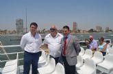 El nuevo ferry de la línea Santiago de la Ribera-La Manga