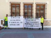 Los trabajadores de ARIMESA afectados por el cierre de su empresa piden en el Ayuntamiento de Santomera la dimisión de la alcaldesa del PSOE
