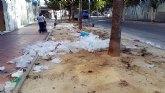 La Asociación de Vecinos Vistabella exige una solución para la basura generada por el mercado de los jueves