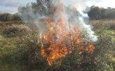 La Comunidad Autónoma prorroga la prohibición de quemas agrícolas de restos vegetales procedentes de poda hasta después del verano