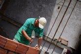 La construcción genera en la Región de Murcia 2.903 contratos, que crecen por debajo de la media nacional