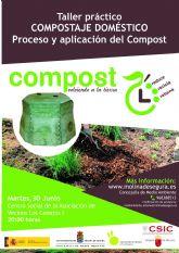 El proyecto de compostaje doméstico de Molina de Segura llega a su fase final con el desarrollo del taller práctico Compostaje doméstico, proceso y aplicación del compost