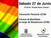 Torre Pacheco se suma a la celebración del 'Día Internacional del Orgullo LGTBI'