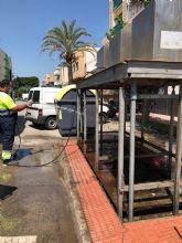 Los 35 contenedores soterrados de Las Torres de Cotillas pasan su revisión anual