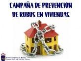 El Ayuntamiento desarrolla una nueva campaña de prevención de robos en viviendas