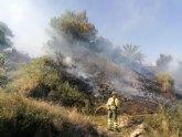 Incendio forestal en Alhama de Murcia
