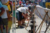 El V Día del Caldero despachó cientos de raciones del plato típico del Mar Menor para celebrar Santiago Apóstol en Santiago de la Ribera