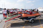 Dos nuevas motos de agua refuerzan el operativo de salvamento que presta Cruz Roja en las playas de Mazarr�n