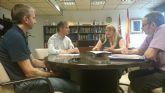 El director general del Agua se re�ne con la alcaldesa de Mazarr�n