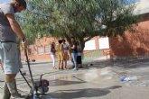 Puesta a punto del patio del colegio público Juan Antonio López Alcaraz