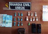 La Guardia Civil desmantela un punto de venta de droga ambulante en una zona de ocio de San Javier