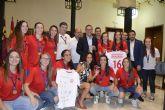 Acto de reconocimiento al equipo de fútbol sala femenino de la UMU por su triunfo en el Campeonato Europeo Universitario