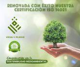 Vega de Pliego ha renovado con éxito la certificación en la norma ISO 14001