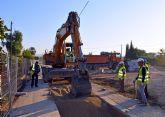Comienzan las obras de mejora de la red de saneamiento en Las Torres de Cotillas