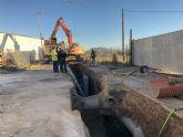 El Gobierno regional invierte casi 200.000 euros en mejorar la red de saneamiento de la calle El Palmar