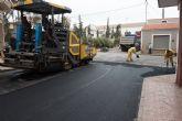 Renuevan asfaltado en calles de Mazarrón y acondicionan el recinto de los rincones