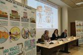 Alcaldesa y directivos de ESAMUR y ACCIONA presentan la campaña municipal de concienciación '¡No viajes al pasado!, no tires toallitas al váter'