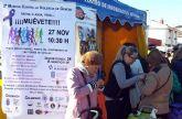 Las Torres de Cotillas celebra el día contra la violencia de género en el mercado semanal