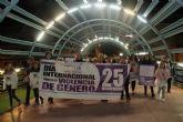 Marcha solidaria para la eliminación de la violencia contra la mujer en Puerto Lumbreras