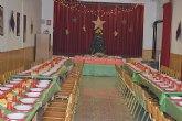 Cáritas Tres Avemarías organizó una cena especial de Noche Buena para sus beneficiarios