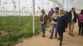 Consejera de Agricultura y alcaldesa visitan las instalaciones de la nueva empresa hortofrutícola en Campos del Río