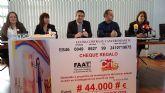 El grupo de mujeres taxistas a nivel nacional 'Mujeres por amor al Taxis', entregan en Alcantarilla los 44.000 euros recaudados en su campaña 'Móntate en un taxis por la Vida', a la Fundación Cris Contra el Cáncer