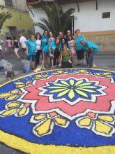 Los alfombristas de Archena, con sus alfombras de sal, representan a la Región de Murcia en el mayor proyecto mundial de alfombrismo