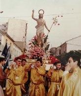 La imagen del Cristo Resucitado, presente desde el año 1980 en la Semana Santa de Las Torres de Cotillas
