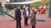 El PSOE aplaude el esfuerzo del pedáneo de Espinardo que estrena un jardín moderno y accesible a la altura de los del centro de Murcia