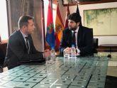 El Presidente de la Comunidad Autónoma recibe al Alcalde de Torre Pacheco