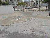 Ciudadanos arranca el compromiso de que la próxima semana se iniciarán las obras para el arreglo de la pista polideportiva del CEIP Conde de Campillos de Cehegín