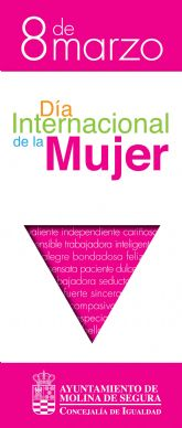 La Concejalía de Igualdad de Molina de Segura conmemora el 8 de Marzo con actividades en febrero y marzo de 2020