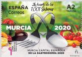 Correos presenta hoy el sello dedicado a la Capital Española de la Gastronomía Murcia 2020