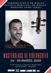 El Conservatorio Profesional de Música Maestro Jaime López de Molina de Segura organiza una master class de violonchelo los días 4 y 5 de marzo