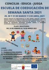 El Ayuntamiento organiza una escuela de coeducación de Semana Santa gratuita para ayudar a la  conciliación de las familias del municipio