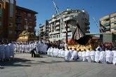 Con el Encuentro, la procesión del Resucitado en Alcantarilla reune a cientos de personas