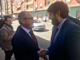 Fernando López Miras asiste en Murcia al tradicional besapié al Cristo del Perdón