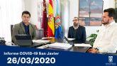 El Ayuntamiento de San Javier suspende sus festivales de verano y anuncia ventajas fiscales por la crisis del Coronavirus