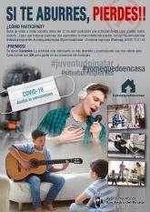 La concejalía de Juventud lanza el concurso de vídeos en redes sociales 'Si te aburres, pierdes'