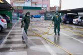 125 efectivos de las brigadas forestales refuerzan las labores de limpieza y desinfección en espacios públicos del municipio