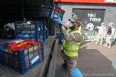 Más de 50 personas participan en el Operativo de Emergencia Social que ha repartido alimentos a más de 800 personas en un día