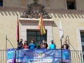 Totana se suma al Manifiesto del Día Mundial de las Lipodistrofias colocando una pancarta conmemorativa e iluminando de azul turquesa la fachada consistorial
