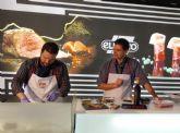 Showcooking de Sergio Fern�ndez con ExtraTiernos en el stand de ElPozo Alimentaci�n