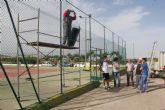 Se inician las obras de mejora en las pistas de tenis de Puerto Lumbreras