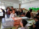 La participación de electores en el municipio de Totana asciende al 35,95% por ciento, a las 14:00 horas, 3,5% menos que hace cuatro años