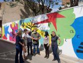 El CEIP Nuestra Señora de la Encarnación de La Raya estrena nuevo grafiti