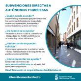 San Pedro del Pinatar destina 500.000 euros a ayudas directas a autónomos y empresas locales