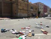 Ahora Murcia considera urgente mejorar la limpieza del mercado de los jueves y de los barrios afectados